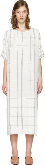 Studio Nicholson , Ivory Windowpane Ercole Dress