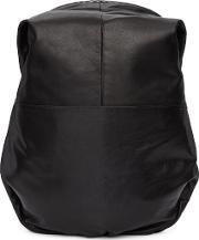 Cote And Ciel , Cote And Ciel Black Leather Nile Backpack