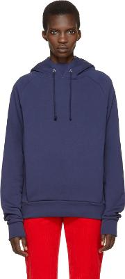 Martine Rose , Navy Embroidered Hoodie