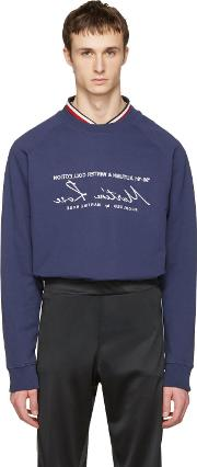 Martine Rose , Navy Embroidered Pullover