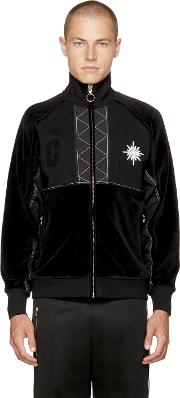Tim Coppens , Black Velour Xtc Track Jacket