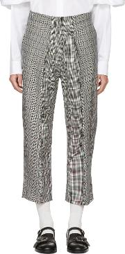 Ashley Williams , Black And Ivory Prince Of Wales Trousers