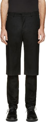 Dgnak By Kangd , D.gnak By Kang.d Black Layered Trousers