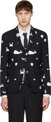 Icon , Navy Funmix  Blazer