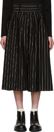 Jw Anderson , J.w. Anderson Black Pleat Front Culottes