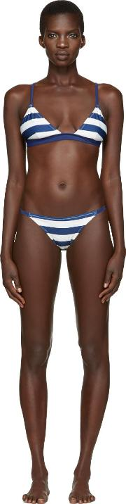 Solid And Striped , Navy The Morgan Bikini