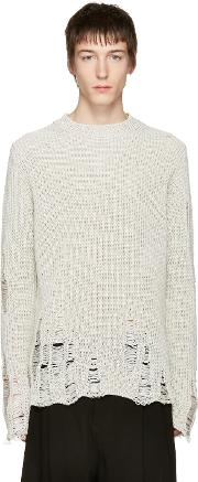 Song For The Mute , Ivory Oversized Beau Sweater