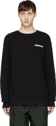 Tim Coppens , Black Printer Ma 1 Crewneck Sweatshirt