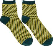Kolor , Green Striped Socks