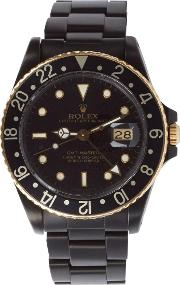 Black Limited Edition , Matte Black And Gold Limited Edition Rolex Gmt Master I