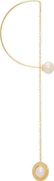 Delfina Delettrez , Gold Abc Fishing For Compliments Earring
