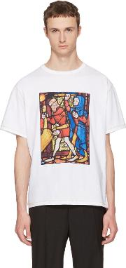 Jw Anderson , J.w. Anderson White Stain Glass T Shirt