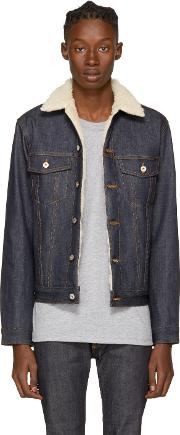 Naked And Famous Denim , Blue Left Hand Twill Denim Jacket