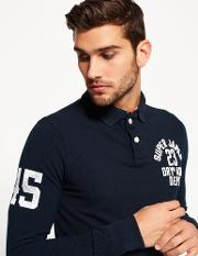 Superdry , Super State Long Sleeve Polo Shirt