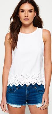 Superdry , Broderie Anglais Top