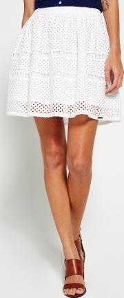 Superdry , Geo Lace Mix Skater Skirt