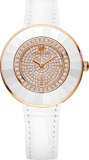 Swarovski , Octea Dressy White Rose Gold Tone Watch White Rose Gold Plated