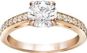 Swarovski , Attract Ring White Rose Gold Plated