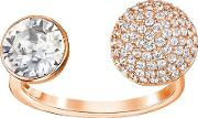 Swarovski , Forward Ring White Rose Gold Plated