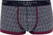 Ted Baker ,  Geo Print Organic Cotton Blend Boxers Navy