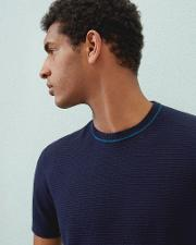 Ted Baker , Knitted T-shirt Navy