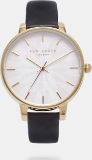 Ted Baker , Leather Strap Watch Black