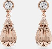 Ted Baker , Mini Plissé Drop Earrings Clear