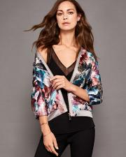 Ted Baker , Mirrored Minerals Bomber Jacket Mid Grey