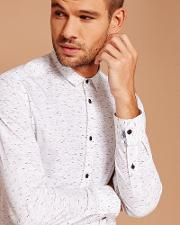 Ted Baker , Nepped Print Cotton T-shirt White