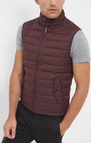 Ted Baker , Quilted Down Filled Gilet Red