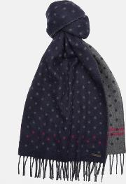 Ted Baker , Spotted Scarf Navy
