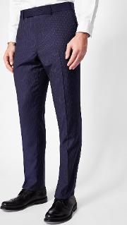 Ted Baker , Sterling Pin Striped Wool Trousers Blue