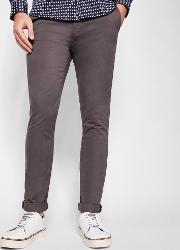 Ted Baker , Ted Baker Tapered Fit Cotton Chinos Charcoal