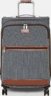 Ted Baker , Ted Baker Two Tone Medium Suitcase Grey
