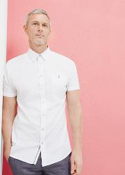 Ted Baker , Textured Cotton Shirt White