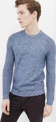 Ted Baker , Textured Crew Neck Sweater Blue