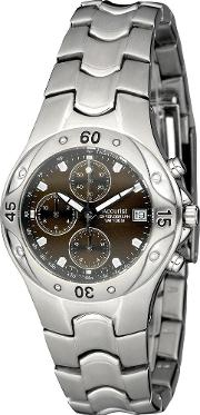 Accurist , Mens Chronograph Brown Dial Watch Mb651br