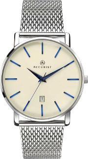 Accurist , Mens Silver London Watch 7171