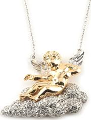Bill Skinner , Two Tone Cherub And Cloud Necklet Bsnw029g