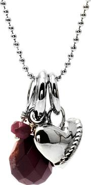 Chrysalis , Silver Ruby Necklet Crnm39silv06-40