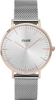 Cluse , La Boheme Two Tone Mesh Bracelet Watch Cl18116