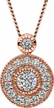 Mastercut , Vintage 18ct Rose Gold 0.20ct Pendant C6pe001 020r