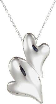 Number 39 , Silver Double Heart Pendant P1035hp