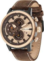 Police , Mens Explorer Strap Watch 15037jsbr04