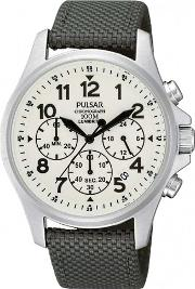 Pulsar , Mens Chronograph Strap Watch Pt3425x1