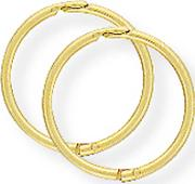 Tjh Collection , 9ct 11mm Hinged Sleeper Hoops Se953