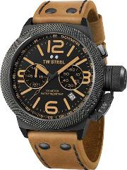 Tw Steel , Mens Canteen Brown Strap Watch Twcs43