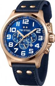 Tw Steel , Mens Pilot Chronograph Watch Tw0407