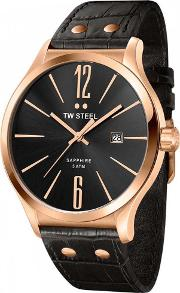 Tw Steel , Mens Slim Line Strap Watch Tw1303
