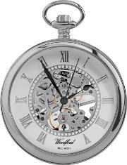 Woodford Pocket Watches , Woodford Chrome Skeletal Pocket Watch 1084